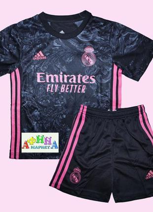 Футбольная форма реал мадрид 2021 adidas для детей (3090)