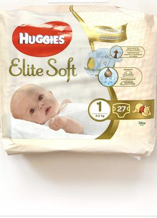 Памперс Huggies ELITE SOFT 1