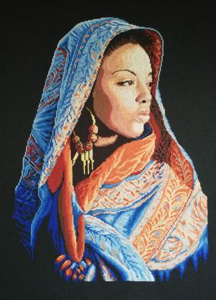 Вышитая картина ′Африканская леди′