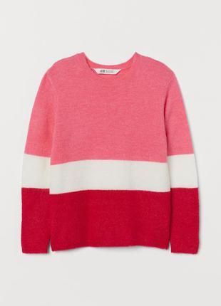 Красивый теплый свитерок h&m девочкам 10-12 лет