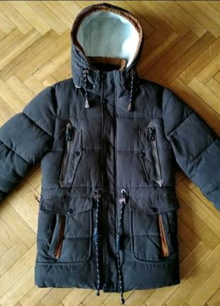 Очень теплая мужская парка куртка на зиму на морозы