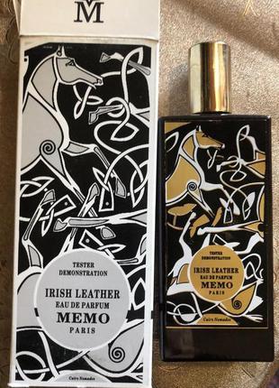 Memo irish leather парфюмированная вода, тестер, 75 мл