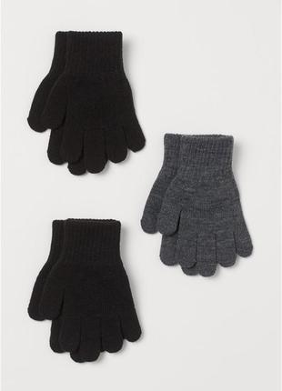 Классические перчатки h&m мальчикам и девочкам
