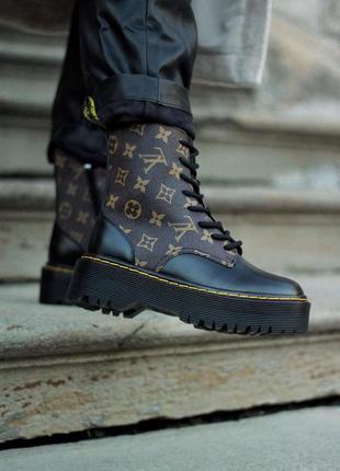 Шикарні черевики dr. martens jadon x louis vuitton  premium