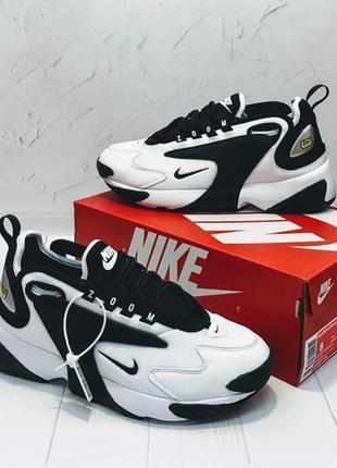 Мужские \ женские кроссовки найк nike zoom 2k white black. дем...
