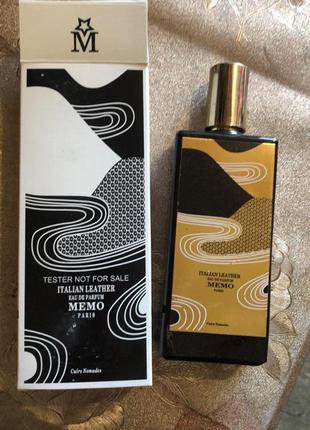 Memo italian leather парфюмированная вода, тестер, фото, 75 мл