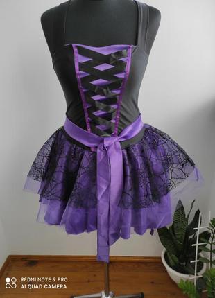 Карнавальный, костюм на хеллоуин ведьма, ведьмочка, колдунья