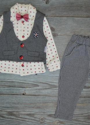 Нарядний костюм сорочка, штани, жилетка, бабочка