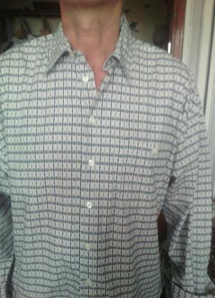 Классная рубаха большого размера xl ворот 43/44 укр 58 le frog...
