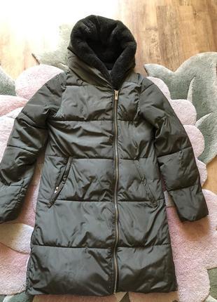 Тёплая куртка-пальто pull&bear