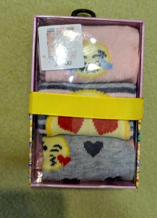 Набор комплект носков носки смайлами смайликами в подарочной к...