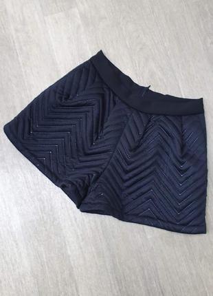 Черные теплые шорты