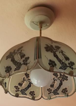 Стельовий світильник, люстра підвісна