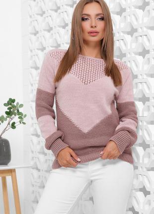 Вязаный женский свитер/ ун. 46-52рр