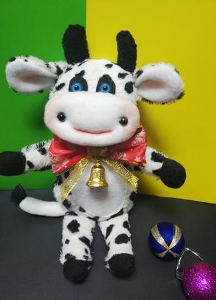 корова Буренка из плюша новогодняя игрушка