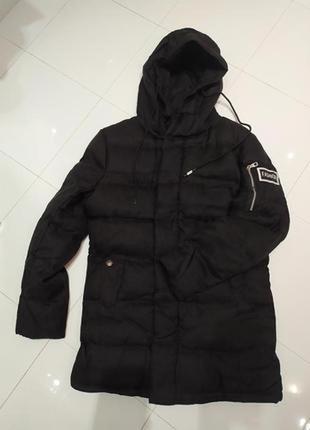 Черная куртка пальто синтепон унисекс