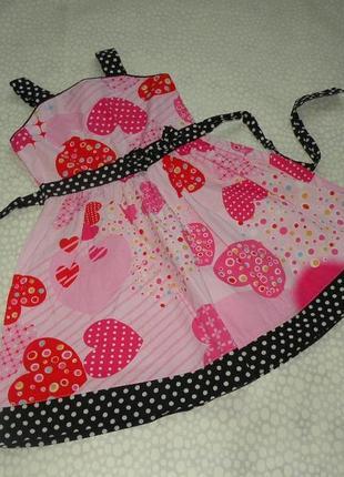 Платье сердечки 4-5 лет
