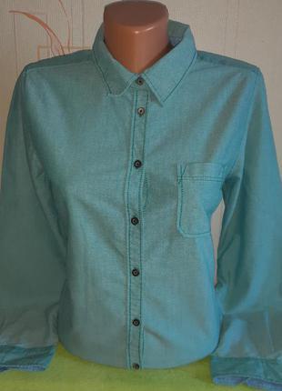 Джинсовая рубашка multiblu ladies favorite мятного цвета , мол...