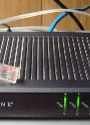 Модем (ADSL-маршрутизатор) ZHONE 6211-I3-302. CPE Router. Глючний