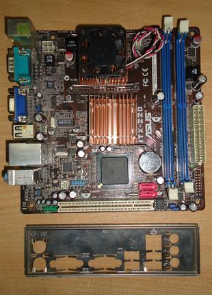 Материнская плата, CPU mini-ITX ASUS ITX-220, Celeron 1.2ГГц