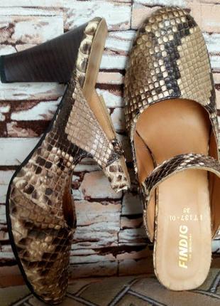 Скидка!!! летние туфли сабо  из экзотической  кожи  питона !!!...