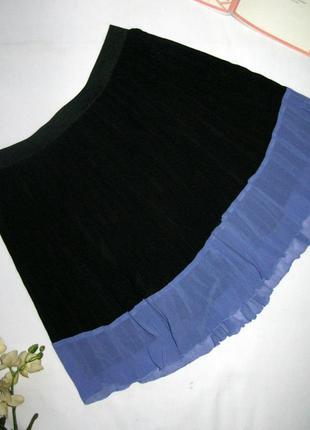 Невесомая молодежная плиссированная юбка спідниця на лето разм...