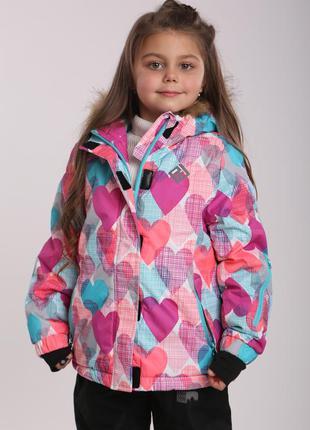 Зимняя куртка на девочку р.104-140 премиум-качество чехия