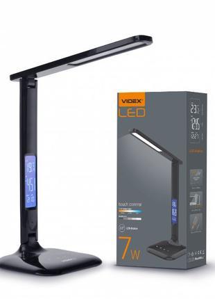 Настольная LED лампа VIDEX TF05B 7W 3000-5500K (черная и белая)
