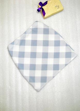 Нежная бело-голубая мини короткая юбка спідниця от boohoo m