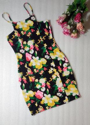 Распродажа платье сукня сарафан в цветочный принт по фигуре вы...