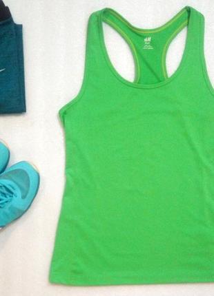 Классный спортивный топ майка для фитнеса бега спорта йоги ярк...