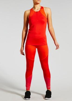 Крутой спортивный красный топ для спорта бега йоги фитнеса раз...
