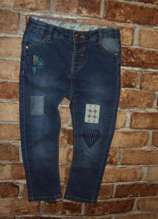 Стрейч джинсы девочке 1 - 2 года m&co