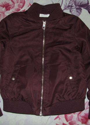 Теплая куртка бомбер девочке 11 - 12 лет h&m