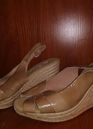 🌹🌹🌹новые женские босоножки на плетенной подошве, натуральная к...