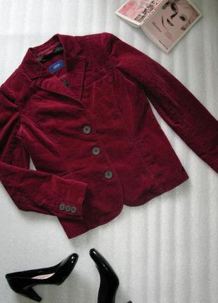 Актуальный вельветовый пиджак блейзер жакет куртка s-m германия