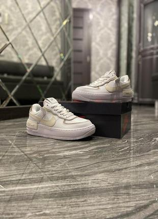 Nike air force shadow white 1 low шикарные женские кроссовки н...