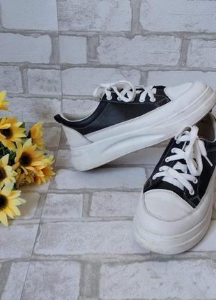 Стильные кроссовки кеды черные женские
