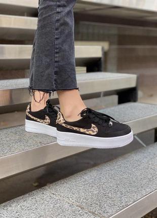 Шикарные кроссовки nike air force leopard