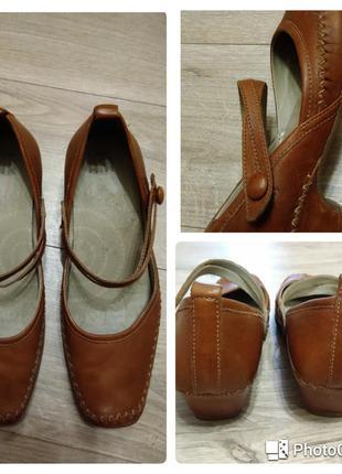 Кожаные туфли на ремешках