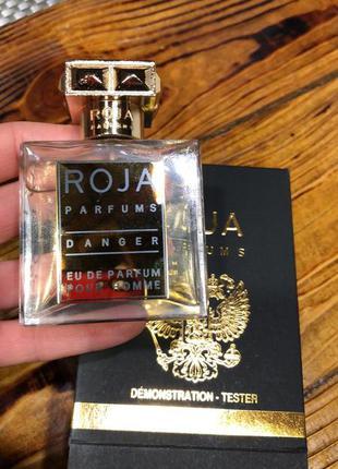 Roja parfums danger pour homme духи, тестер, 50 мл