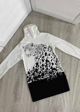 Платье белое детское черное теплое 114 colabear