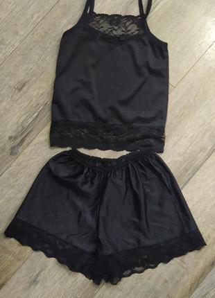 Xs/s-36/38,германия!черный комплект в винтажном стиле майка+шо...