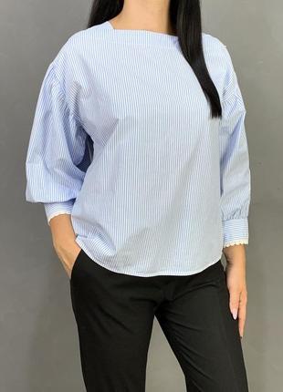 Блузка с пышными  рукавами баффами mango.