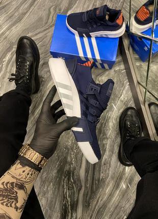 Женские кроссовки 🔸adidas equipment (eqt) black blue white🔸