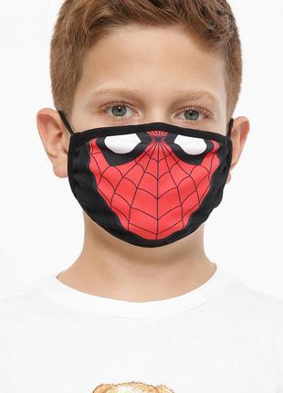 Детская защитная маска spider man, человек паук (многоразовая)