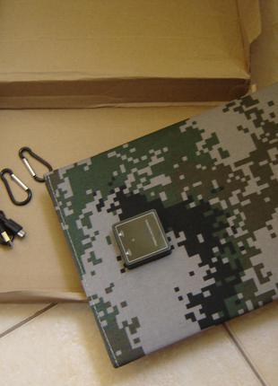 Солнечная зарядка,батарея,панель 21ватт (защитный цвет)