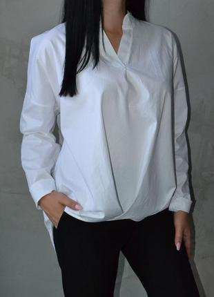 Рубашка блуза белая оверсайз