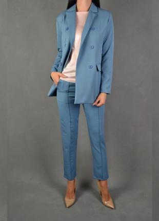 Костюм брючный удлиненный пиджак  брюки классика