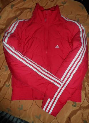 Adidas оригинал ,яркая утеплен.куртка,р.10-